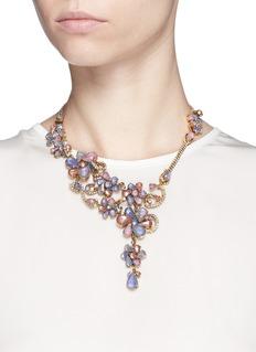 ERICKSON BEAMON'Botanical Garden' Swarovski crystal floral necklace