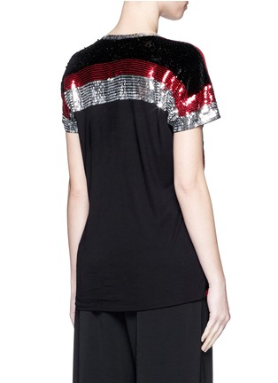Back View - Click To Enlarge - Lanvin - Sequin chevron jersey T-shirt