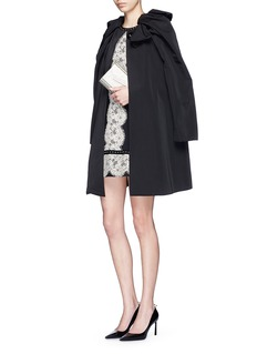 LANVIN Oversize bow puff shoulder faille coat