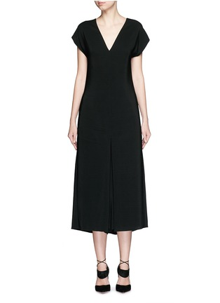 Main View - Click To Enlarge - Lanvin - V-neck crepe culottes jumpsuit