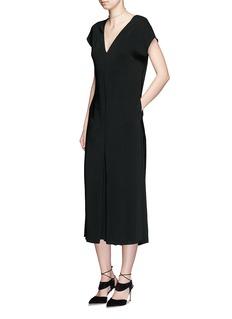 LANVINV-neck crepe culottes jumpsuit