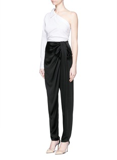 LANVIN Wrap bow satin crepe pants