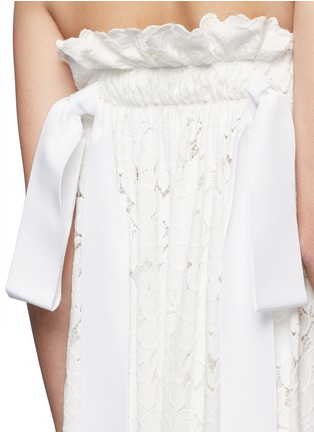 Detail View - Click To Enlarge - Lanvin - Guipure lace strapless tier wedding gown