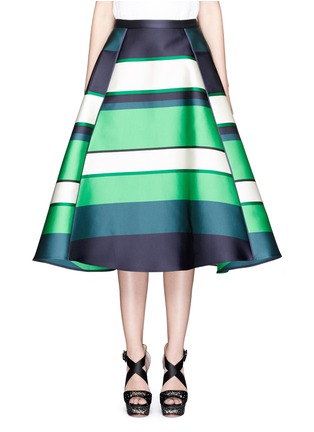 Main View - Click To Enlarge - Lanvin - Colourblock stripe Duchesse satin flare skirt