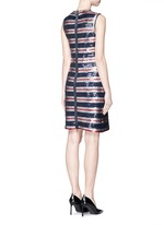 Stripe sequinned jersey dress