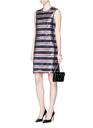 Figure View - Click To Enlarge - Lanvin - Stripe sequinned jersey dress