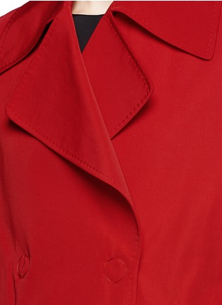 Detail View - Click To Enlarge - Lanvin - Sash waist faille trench coat
