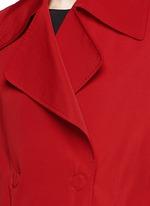 Sash waist faille trench coat