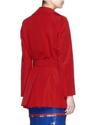 Back View - Click To Enlarge - Lanvin - Sash waist faille trench coat