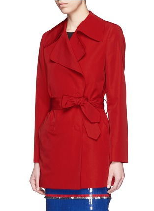 Front View - Click To Enlarge - Lanvin - Sash waist faille trench coat