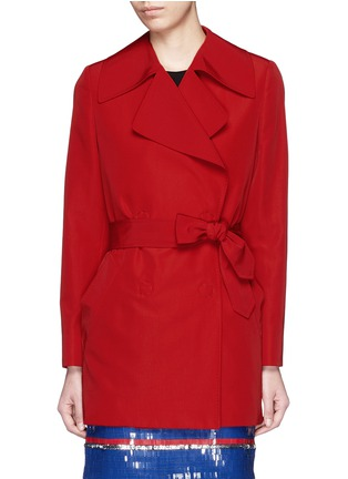 Main View - Click To Enlarge - Lanvin - Sash waist faille trench coat