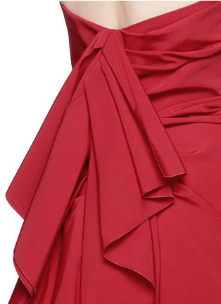 Detail View - Click To Enlarge - Lanvin - Cascade ruffle strapless faille gown
