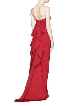 Back View - Click To Enlarge - Lanvin - Cascade ruffle strapless faille gown