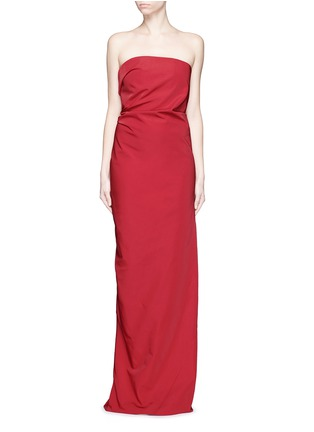 Main View - Click To Enlarge - Lanvin - Cascade ruffle strapless faille gown