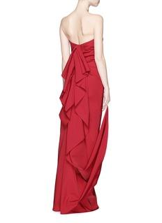 LANVINCascade ruffle strapless faille gown