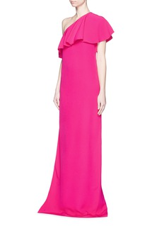 LANVIN Ruffle one shoulder cady gown