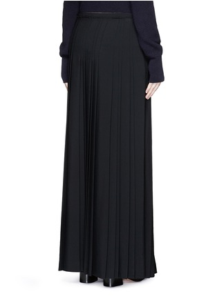 Back View - Click To Enlarge - Chloé - Pleat crepe maxi wrap skirt