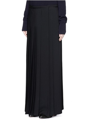 Front View - Click To Enlarge - Chloé - Pleat crepe maxi wrap skirt