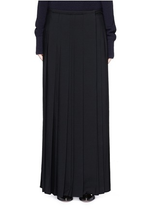 Main View - Click To Enlarge - Chloé - Pleat crepe maxi wrap skirt