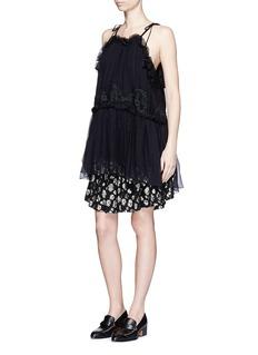 CHLOÉTassel leopard fil coupé mini skirt