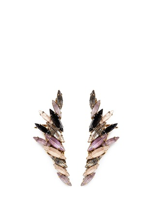 Main View - Click To Enlarge - Erickson Beamon - 'Fortune Hunter' crystal wing ear cuffs