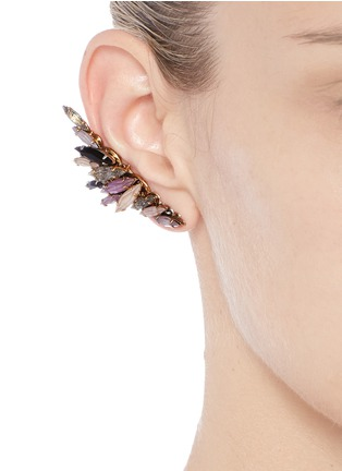 Figure View - Click To Enlarge - Erickson Beamon - 'Fortune Hunter' crystal wing ear cuffs
