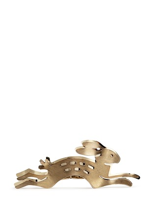 Main View - Click To Enlarge - Lanvin - Rabbit cutout brass double finger ring