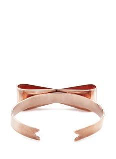 Delfina Delettrez'Papillon' rose gold silver bow cuff