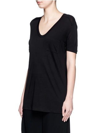 Front View - Click To Enlarge - T By Alexander Wang - Rayon jersey T-shirt