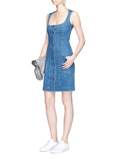 Stella McCartney Button front stretch denim dress