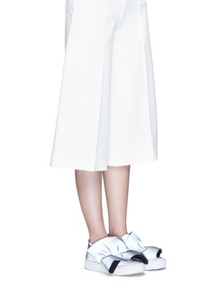 MSGM Oversized ruffle front reflective skate slip-ons
