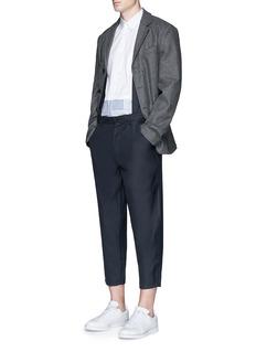 Comme Des Garçons ShirtWool blend twill suspender pants