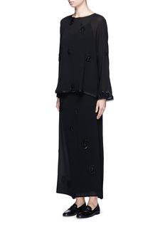 The Row'Sage' bead embellished silk maxi skirt