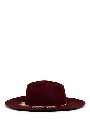 Figure View - Click To Enlarge - Venna - Zircon pavé spike fringe felt fedora hat