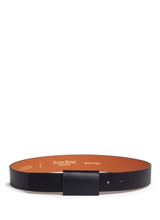 Maison Boinet Buckle-less leather belt