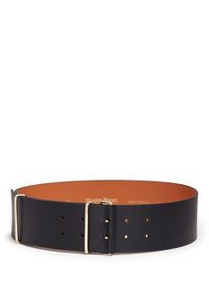 Maison Boinet Leather wide belt