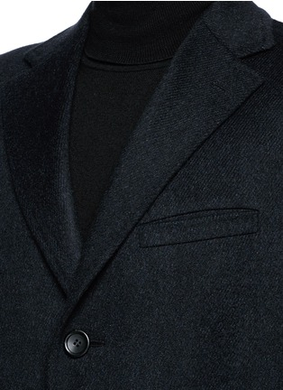 Detail View - Click To Enlarge - Canali - 'Kei' cashmere-chinchilla flannel coat