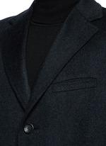 'Kei' cashmere-chinchilla flannel coat