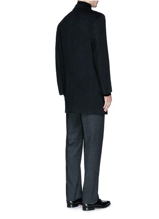 Back View - Click To Enlarge - Canali - 'Kei' cashmere-chinchilla flannel coat