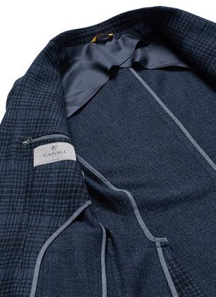 - Canali - Check wool-cotton jersey blazer