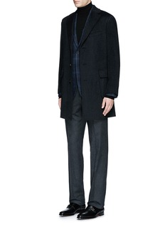 Canali Check wool-cotton jersey blazer