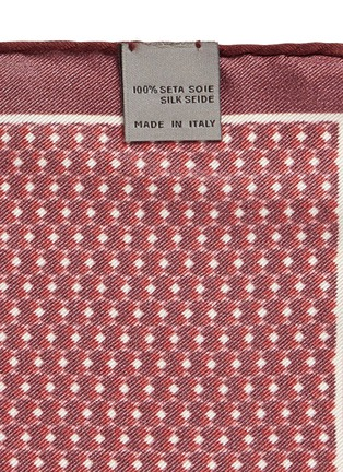 Detail View - Click To Enlarge - Canali - 3D diamond print silk pocket square