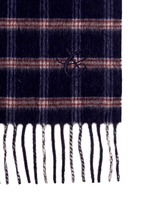 Glen plaid wool-angora scarf
