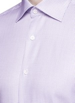 Slim fit micro check cotton shirt