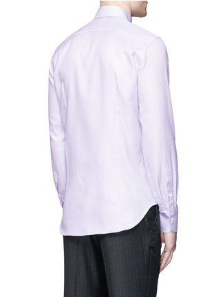 Back View - Click To Enlarge - Canali - Slim fit micro check cotton shirt