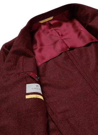 - Canali - 'Kei' wool blend herringbone soft blazer
