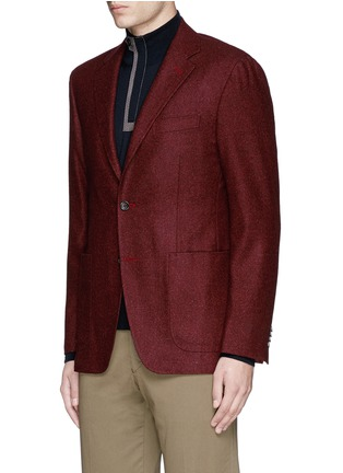 Front View - Click To Enlarge - Canali - 'Kei' wool blend herringbone soft blazer