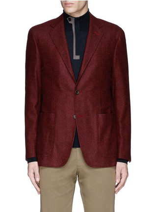 Main View - Click To Enlarge - Canali - 'Kei' wool blend herringbone soft blazer