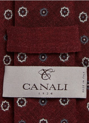 Canali - Floral cathedral print wool tie