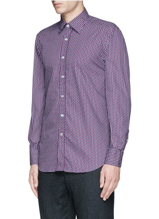 Front View - Click To Enlarge - Canali - Star print cotton shirt
